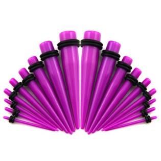 Akrylátový roztahovák do ucha fialový