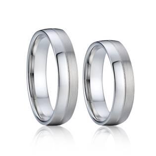 AN1008 Snubní prsteny chirurgická ocel - pár