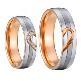 AN1013 Snubní prsteny chirurgická ocel - pár