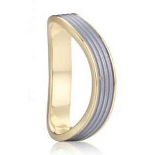 AN1014 Pánský snubní ocelový prsten vlnka