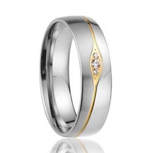 AN1019 Dámský snubní prsten se zirkony