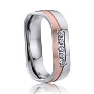 AN1021 Dámský snubní prsten se zirkony