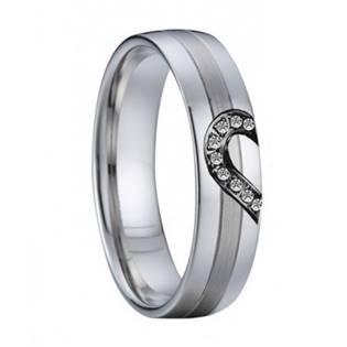 AN1029 Dámský snubní ocelový prsten