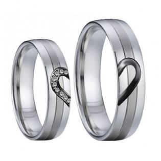 AN1029 Snubní prsteny chirurgická ocel - pár