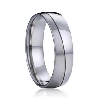 AN1035 Pánský snubní ocelový prsten