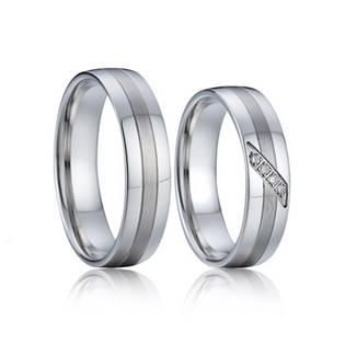 AN1041 Stříbrné snubní prsteny, stříbro AG925/1000 - pár