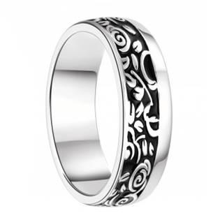 AN1043 Pánský stříbrný snubní prsten