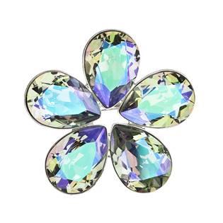 Brož kytička s kamínky Crystals From Swarovski®