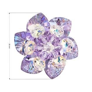 Brož kytka s kamínky Crystals From Swarovski®