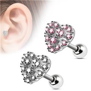Cartilage piercing do ucha srdíčko