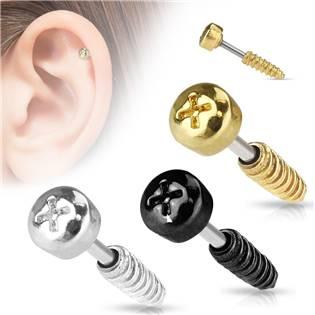 Cartilage piercing do ucha šroub