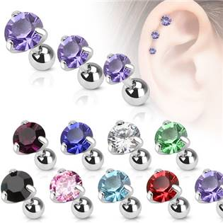 Cartilage piercing do ucha, zirkon 4 mm