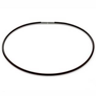 Černá kaučuková šňůra 0827-0145, délka 45 cm