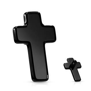 Černý náhradní křížek k labretě