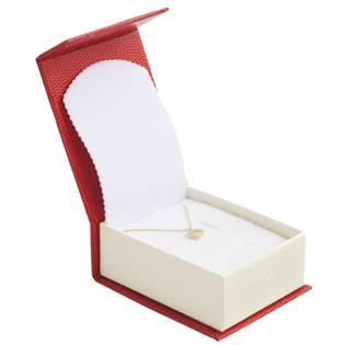 Červená dárková krabička na soupravu šperků magnetické zavírání