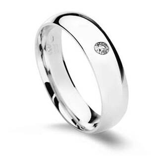 CS2042-5ZR Stříbrný prsten s zirkonem, šíře 5 mm