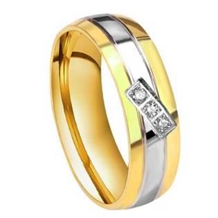 Dámský ocelový prsten se zirkony