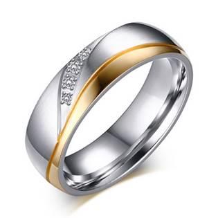 Dámský ocelový prsten, šíře 6 mm
