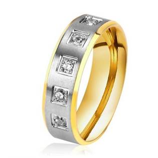 Dámský ocelový prsten, šíře 6 mm, vel. 52