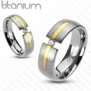 Dámský prsten titan, šíře 6 mm
