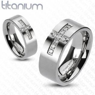 Dámský prsten titan, šíře 6 mm, vel. 49