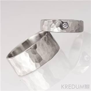 Dámský snubní ocelový prsten Draill diamant