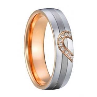 Dámský snubní ocelový prsten šíře 6 mm, vel. 54