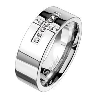 Dámský snubní prsten titan, šíře 6 mm