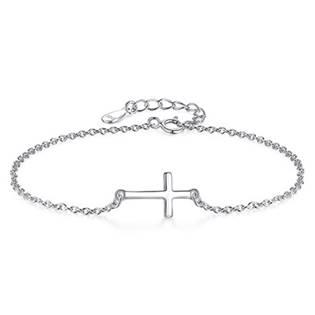 Dámský stříbrný náramek křížek