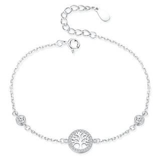 Dámský stříbrný náramek strom života