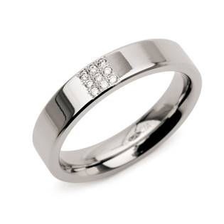 Dámský titanový prsten s diamanty lesklý  BOCCIA® 0121-02