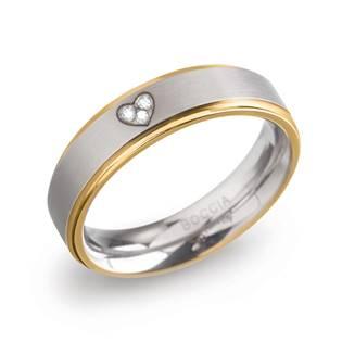 Dámský titanový snubní prsten BOCCIA® s diamanty 0134-06