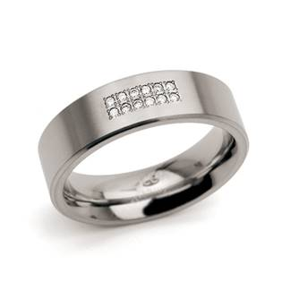 Dámský titanový snubní prsten s diamanty BOCCIA® 0101-18