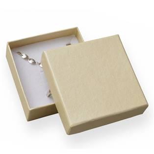 Dárková krabička - perleťově smetanová