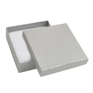 Dárková krabička - stříbřitě šedá