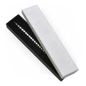 Dárková krabička na náramek, stříbrná/černá