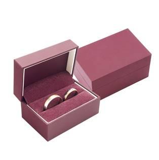 Dárková krabička na snubní prsteny - bordó