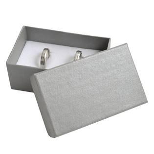 Dárková krabička na snubní prsteny - stříbřitě šedá