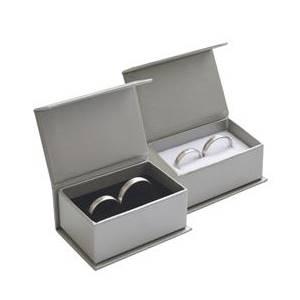 Dárková krabička na snubní prsteny - stříbrná