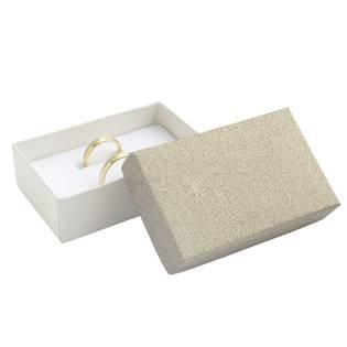 Dárková krabička na snubní prsteny, stříbřitě béžová