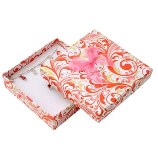 Dárková krabička na soupravu s růžovou mašlí