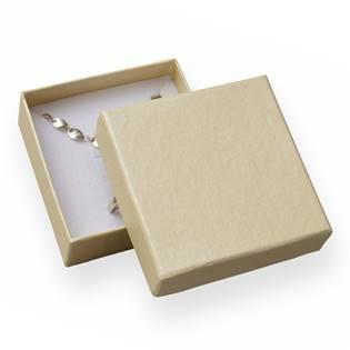 Dárková krabička na soupravu šperků - perleťově smetanová