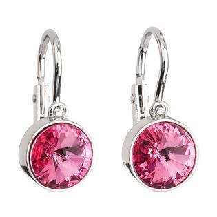 Dětské stříbrné náušnice s krystaly Crystals from Swarovski®, rose