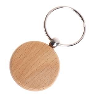Dřevěný přívěšek na klíče - kroužek