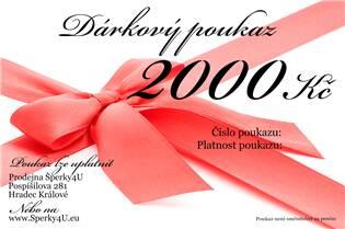 Elektronický dárkový poukaz 2000,- Kč