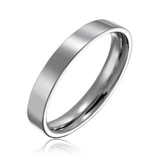 Hladký ocelový prsten, šíře 3 mm