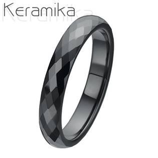 Keramický prsten černý, šíře 4 mm