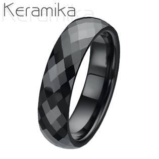 KM1002-6 Dámský keramický snubní prsten, šíře 6 mm