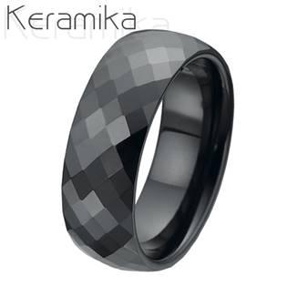 KM1002-8 Dámský keramický snubní prsten, šíře 8 mm