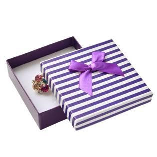 Krabička na soupravu šperků, fialové pruhy